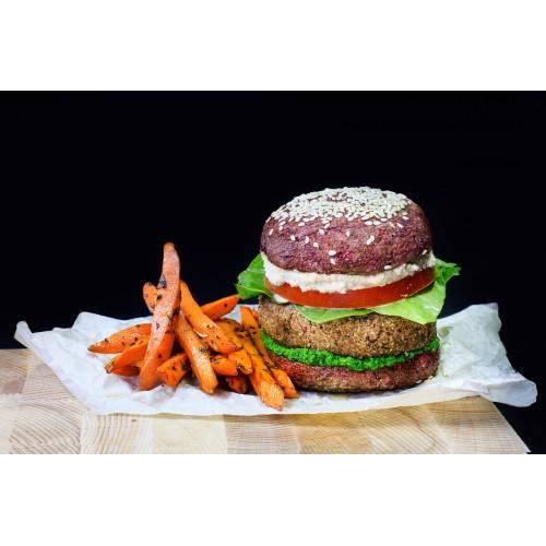 Вегетарианский бургер с котлетой из фасоли